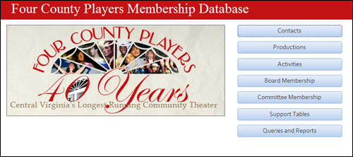 Four County Players Membership Database by Media Orange