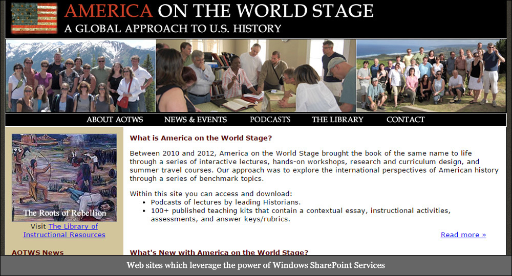 America on the World Stage Teaching American History Grant Project by Media Orange