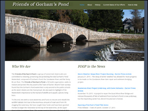 Friends of Gorham's Pond Web Site by Media Orange