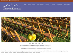 Gibson Rental Web Site by Media Orange