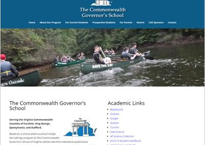 Commonwealth Governor's School Web Site