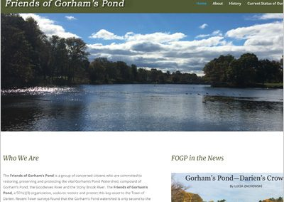 Friends of Gorham's Pond Web Site