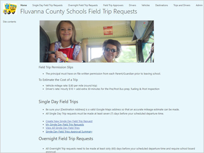 Fluvanna County Public Schools Field Trip Requests