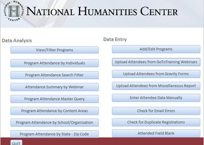 National Humanities Center Education Program Management System