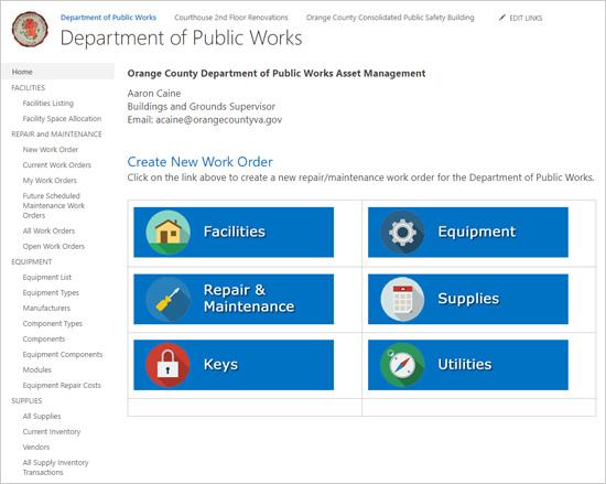 Orange County, Virginia, Department of Public Works Asset