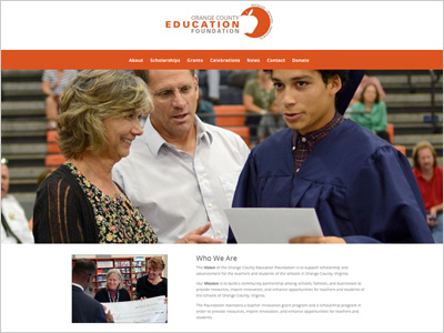 Orange County Education Foundation Web Site